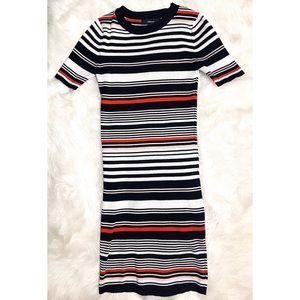 Stripped Sweater dress  size Medium